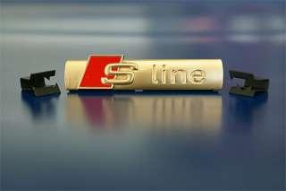 AUDI S LINE SCHRIFT EMBLEM 24K GOLD GRILL A2 A3 A4 A6