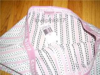 NWT Juicy Couture Raspberry Dooby Stripe Cotton Boxer M
