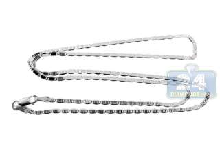 10K White Gold Womens Link Chain Necklace 18 inches Real Gold