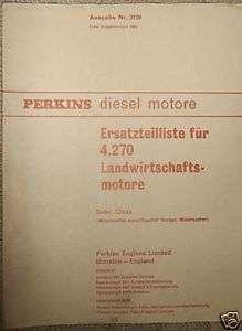 Ersatzteilliste Perkins   Diesel Motore 4.270