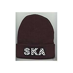 SKA Beanie HAT SKI Cap Skull CAP Black Blue Brown NEW