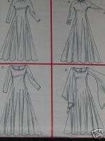 Womens Renaissance Dress Gown size 14 20 Sewing Pattern