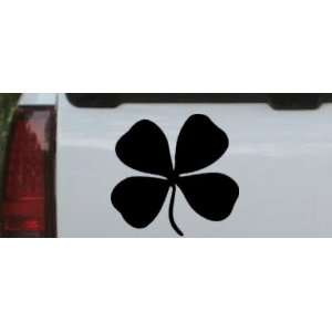Black 5.8in X 6in    Four Leaf Clover Car Window Wall Laptop Decal
