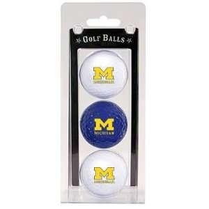Michigan Wolverines Team Logo Three Golf Ball Pack   Golf