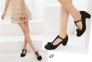 retro style women shoes elegant strappy medium chunky heel dress pumps