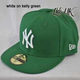 NEW ERA 59fifty NY NEW YORK YANKEES FLAT PEAK 5950 FITTED CAP HAT