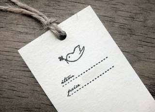Decorative Stamps Rubber Stamp_Price Label Tag bird
