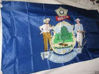 MAINE STATE FLAG 3 X 5 3X5 NEW