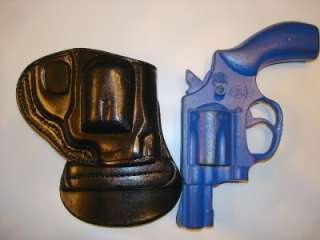 TAURUS 85 2 SNUBNOSE REVOLVER RH BLACK LEATHER PADDLE GUN HOLSTER