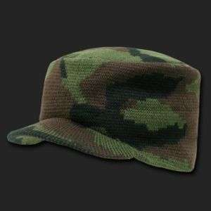 Woodland FLAT TOP JEEP CAP CAMO Beanie Knit Cap Skully