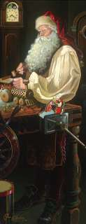 Dean Morrissey FATHER CHRISTMAS THE WORKSHOP giclee canvas, Santa