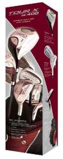Senior Tour X SR Golf Club Stand Bag Box Set, 18 pc, LH