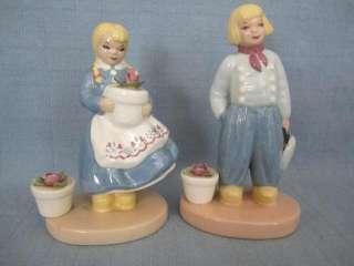 D7 Zaida Squire Ceramics Dutch Boy & Girl Figurines