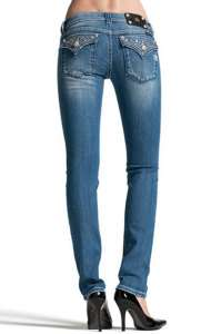 MISS ME POLKA SHINE CRYSTAL SKINNY DENIM JEANS JW5141S4
