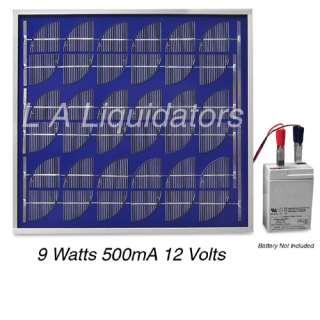 Solar Power Panel 9 Watt 12 Volt RV Battery Charger