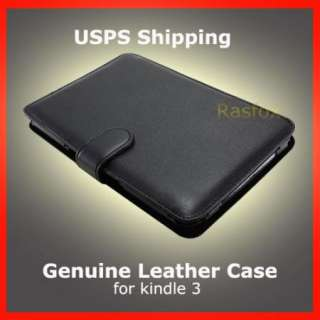 BK Genuine Leather Cover Case  Kindle Keyboard / 3 + Free Screen