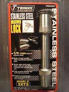 Steel Hitch Receiver Lock 5/8 Pin Fits All III, IV, V Receiver