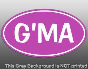 Sticker   decal GMA Grandma grandparents car vinyl family mom fun kids