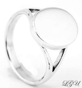STERLING SILVER OVAL RING SIZE 10 FREE ENGRAVING