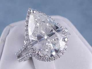 37 CT TW PEAR CUT DIAMOND ENGAGEMENT / WEDDING RING SET