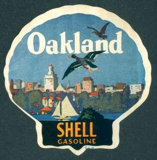 Shell Oil Sticker Oakland, California ca.1920s