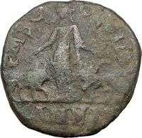 PHILIP I 244AD Viminacium Sestertius LEGIONS Ancient Roman Coin Bull