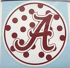 alabama crimson tide polka dot circle vinyl decal sticker 4