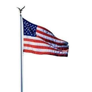 20 ft. Aluminum Flagpole with American Flag