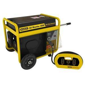 Stanley8000 Running Watt, 10,000 Surge Watt Storm Portable Generator