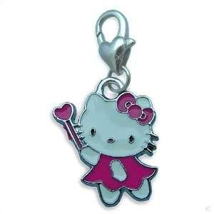 Bettelarmband Anhänger silber Hello Kitty Zauber pink #8743