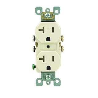 Leviton 20 Amp 2 Pole Light Almond Tamper Resistant Duplex Outlet R56