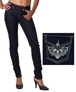 Leg 2% Spandex Back Flap Embroidered Pocket Jeans Sz. 3/4   11/12