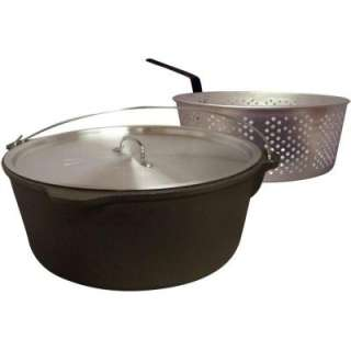 . Cast Iron Pot With Aluminum Lid and Basket CI12B at The Home Depot