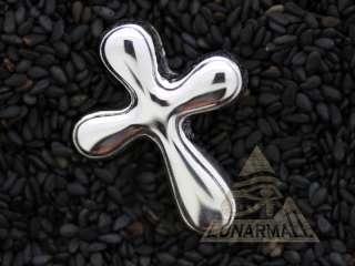 Sterling Silver Bubble Cross Charm shining Pendant