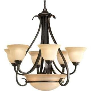 Progress Lighting Torino Collection Forged Bronze 6+3 Light Chandelier