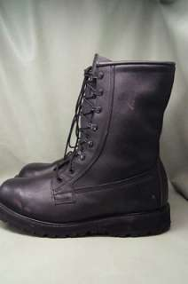 Combat Black Leather Paratrooper 10 R Mens Hiking Boots