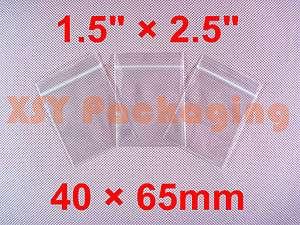 1000 Ziplock Plastic Zipper Bags 1.5 x 2.5_40 x 65mm