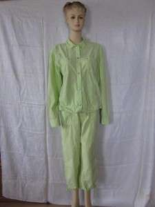 Fresh Produce Bright Green Capri Pants Outfit XL Small