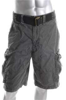 American Rag NEW Mens Gray Knit Cargo Shorts 36