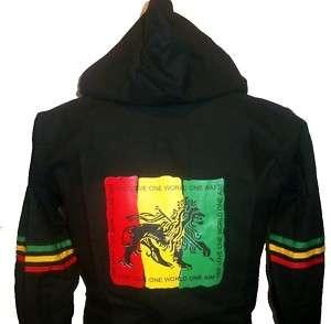 Rasta Reggae Lion of Judah Hoodie Jacket Afrika Jacke