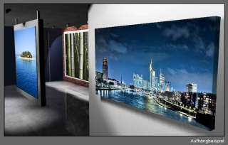Leinwand Kunst Bild Frankfurt Nacht Skyline Lounge Stil