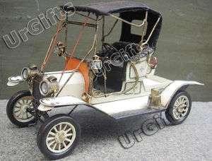 Vintage Car Hand Made Metal Art Bar Decor 1/12 Old Ford 1912 Model T