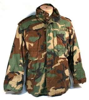 USGI Military Army Woodland Camo M 65 M65 Field Coat Jacket Small / X
