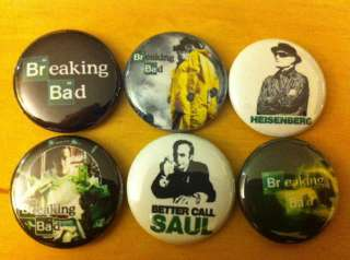 set of 6 1 pins pinback buttons badges TV SHOW SEASONS 2 5 4