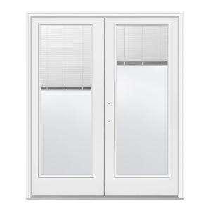 JELD WEN Steel French Patio Door 72 in. x 80 in. White Right Hand