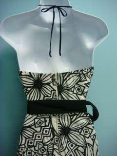 NWOT Womens Black/Cream Halter Dress by B.Smart sz 3/4