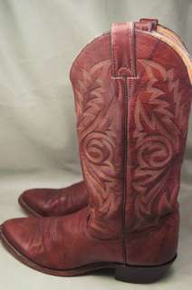Justin Brown Leather 8 D Mens Western Boots