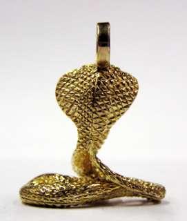 14 kt yellow gold COBRA Jewelry Pendant   Charm