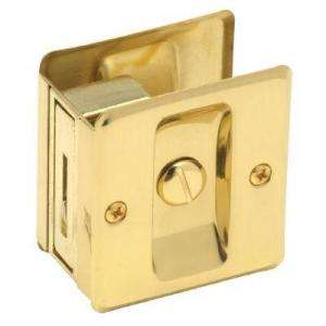 Schlage Privacy Sliding Door Lock Bright Brass 46 101 605 at The Home