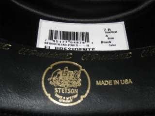 Stetson 100x Black El Presidente Beaver & Cashmere Hat